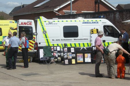 St John Ambulance - Emergency Service Day at Evesham Fire Station