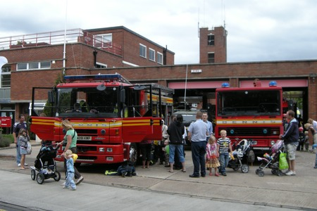 Evesham fire station open day - fire engine