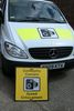 Mobile speed camera van at Evesham fire station