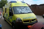 Paramedic Emergency Ambulance at Evesham Worcestershire