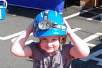 Wearing a coastguard helmet Scarborough Emergency Services day
