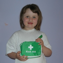 Young girl first aider