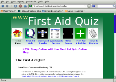First Aid Quiz in Firefox (on Ubuntu)